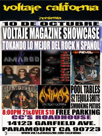 Voltaje Magazine Showcase - rock en español - rockeros.net