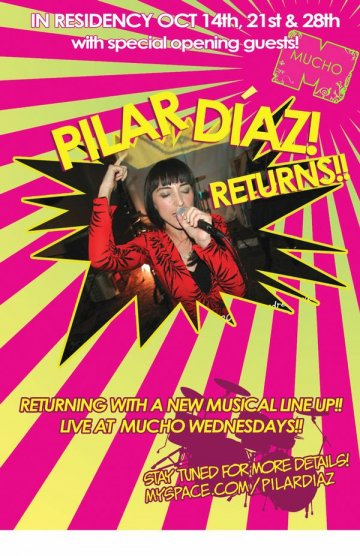 Mucho Wendsdays Presenta Pilar Diaz Recidency - rock en espa�ol - rockeros.net