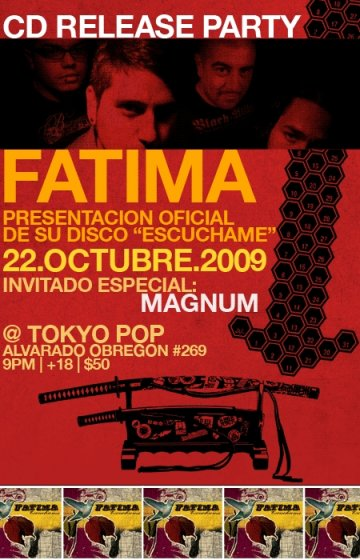 Fatima Cd Release Party Escuchame En Tokyo Pop Mexico Df - rock en espa�ol - rockeros.net