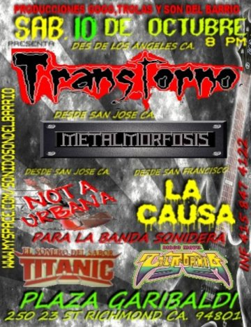Transtorno En Richmon California - rock en espa�ol - rockeros.net
