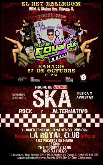 El Rey Ballroom Presenta La Royal Club - rock en espa�ol - rockeros.net