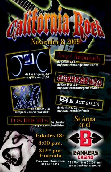 California Rock En El Bankers Casino - rock en espa�ol - rockeros.net