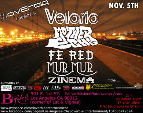 Soverbia Ent Presenta Velorio En El Bordello Bar - rock en español - rockeros.net
