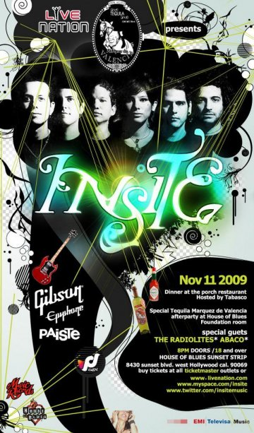 Insite En El House Of Blues - rock en espa�ol - rockeros.net