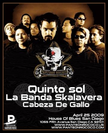 Panteon Rococo At The House Of Blues San Deigo - rock en espa�ol - rockeros.net