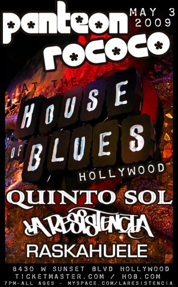 Panteon Rococo At The House Of Blues Sunset - rock en espa�ol - rockeros.net