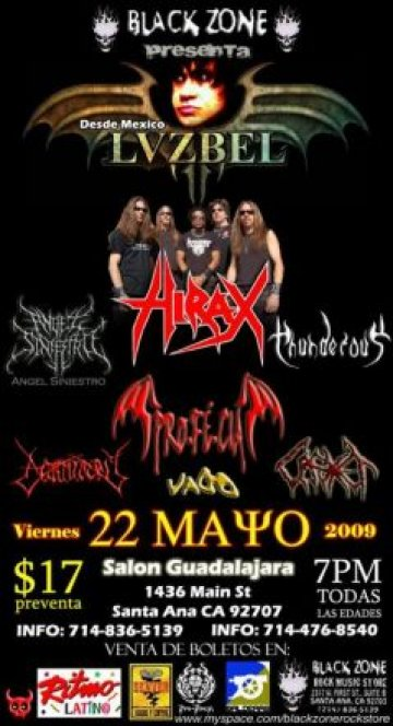 Hirax And Lvzbel In Santa Ana - rock en espa�ol - rockeros.net
