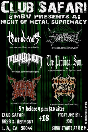 Night Of Metal Supremacy - rock en espa�ol - rockeros.net