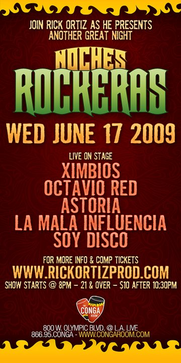 Noches Rockeras - rock en espa�ol - rockeros.net