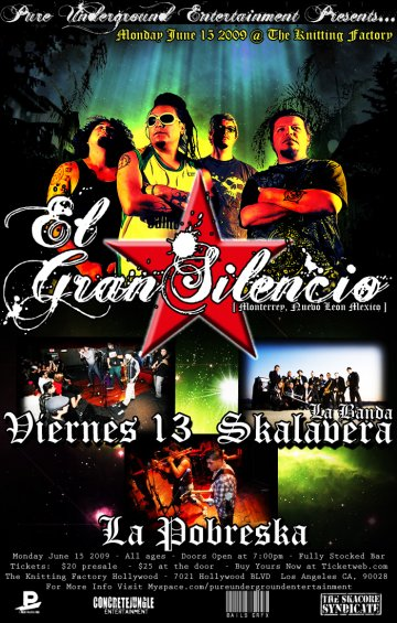 El Gran Silencio At The Knitting Factory - rock en espa�ol - rockeros.net