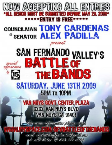 San Fernando Valley Battle Of The Bands - rock en espa�ol - rockeros.net