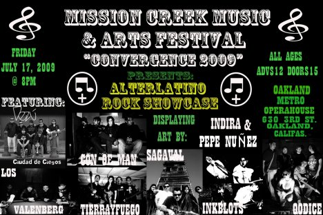Mission Creek Music And Arts Festival Presents The Alterlatino Showcase - rock en espa�ol - rockeros.net