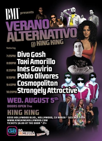 Bmi Presents Verano Alternativo At King King - rock en espa�ol - rockeros.net