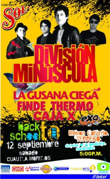 Back To School 2009 Con Division Minuscula - rock en espa�ol - rockeros.net