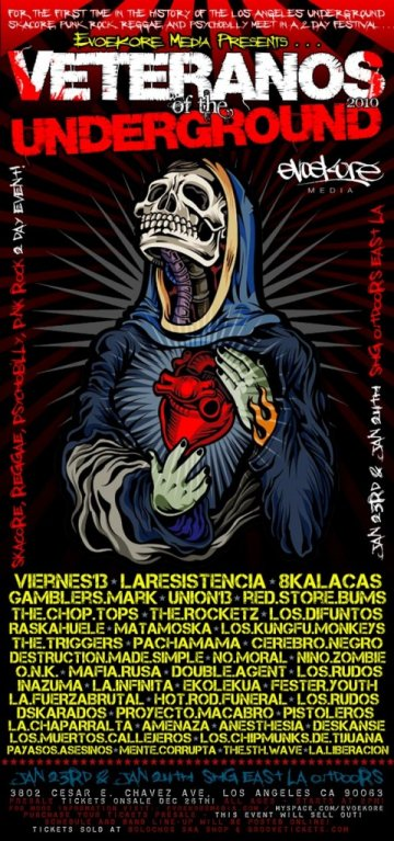Veteranos Of The Underground 2010 - rock en espa�ol - rockeros.net