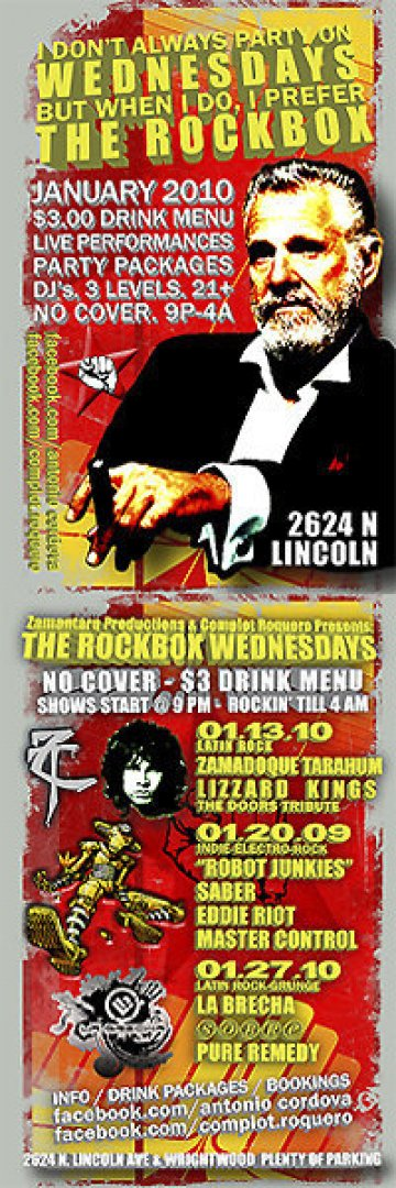 Rockbox Wednesdays - rock en espa�ol - rockeros.net
