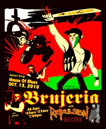 Brujeria Repulsion Y Sangre En El House Of Blues Sunset Strip Los Angeles Ca - rock en español - rockeros.net