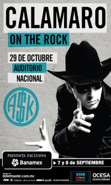 Andres Calamaro On The Rock Tour En El Auditorio Nacional De La Ciudad De Mexico - rock en espa�ol - rockeros.net