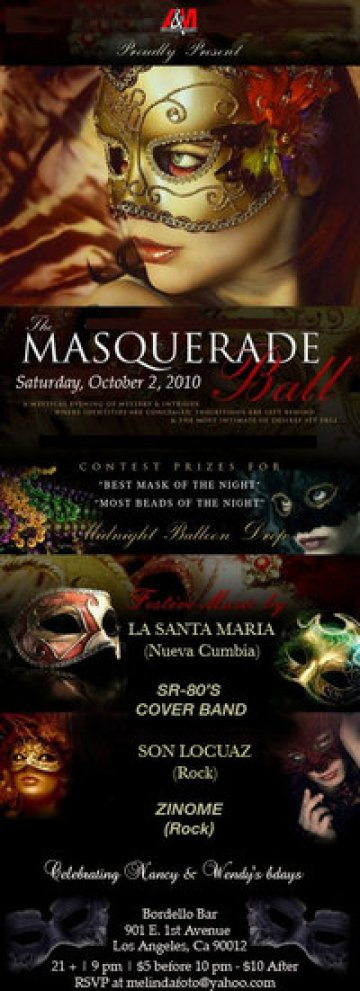 The Masquerade Ball En Bordellos De Los Angeles Con La Santa Maria Las 15 Letras - rock en espa�ol - rockeros.net