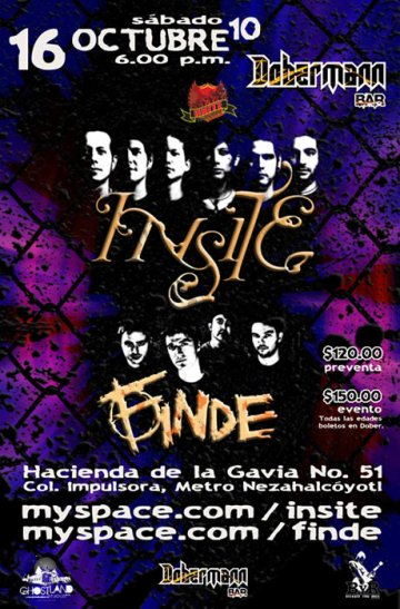 Insite Y Finde En El Dobermann Bar Impulsora Neza Mexico - rock en espa�ol - rockeros.net
