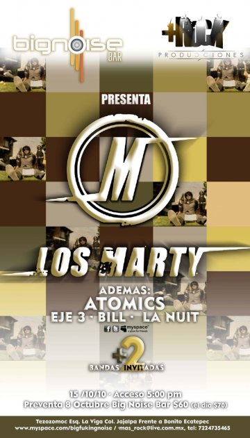 Los Marty Atomics Eje 3 Bill La Nuit En Big Noise Bar Ecatepec - rock en espa�ol - rockeros.net