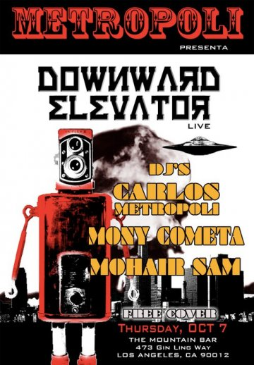 Metropoli Presenta Downward Elevator En The Mountain Bar Chinatown Los Angeles - rock en espa�ol - rockeros.net