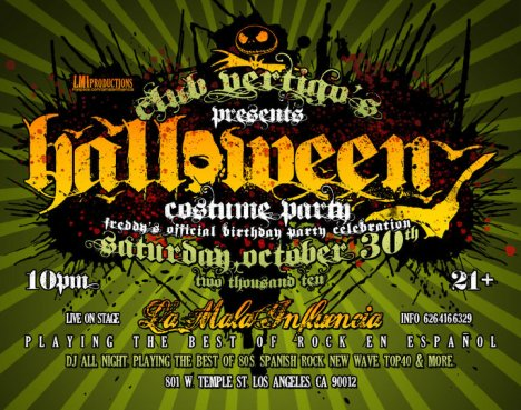 Club Vertigos Presenta Halloween Costume Party Con La Mala Influencia - rock en espa�ol - rockeros.net
