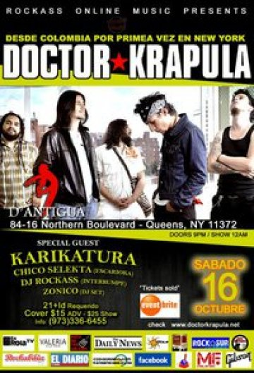 Doctor Krapula Karikatura En D Antigua Queens New York - rock en español - rockeros.net