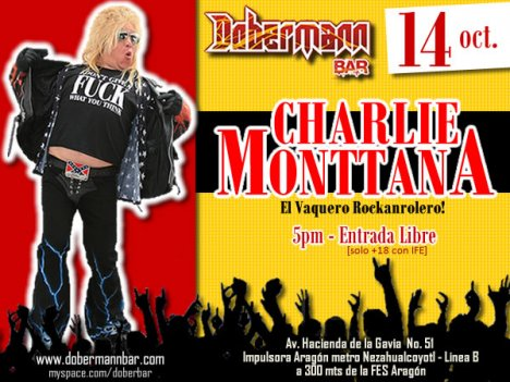 Charlie Monttana En El Dobermann Bar Aragon Mexico Df - rock en espa�ol - rockeros.net