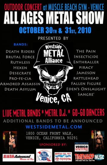 Venice Muscle Beach Metal Show Damage Kids Sangre Deathriders Brutal Force - rock en espa�ol - rockeros.net