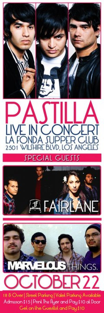Pastilla Fairlane Marvelous Things En La Fonda Ultra Loung Los Angeles Ca - rock en español - rockeros.net
