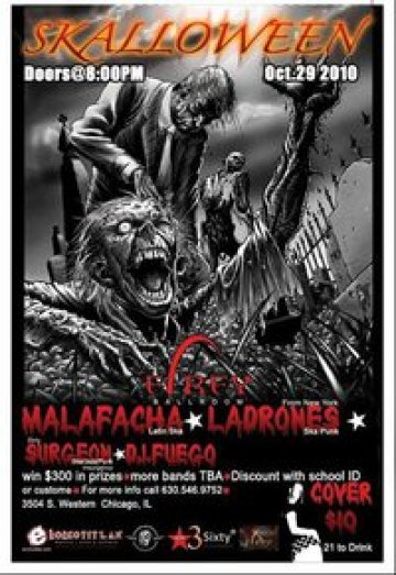 Skalloween En El Rey Ballroom Chicago Illinois The Ladrones Malafacha - rock en espa�ol - rockeros.net