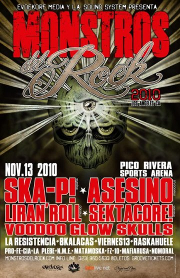 Monstros Del Rock Ska-p Asesino Liran Roll Sekta Core Pico Rivera Sports Arena - rock en espa�ol - rockeros.net