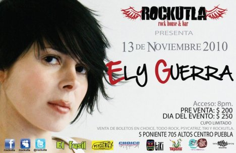 Ely Guerra En Rockutla Rock House Y Bar Puebla Mexico - rock en espa�ol - rockeros.net