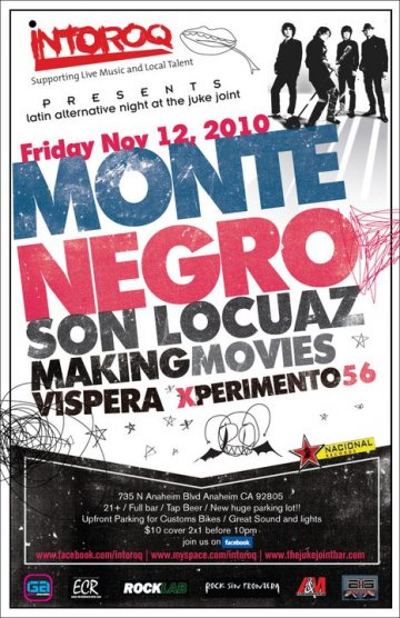 Monte Negro Son Locuaz Making Movies Vispera En El Junk Joint Anaheim California - rock en espa�ol - rockeros.net