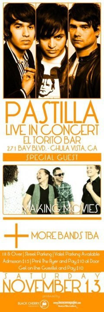 Pastilla Making Movies En El Torito Bar De Chula Vista California - rock en espa�ol - rockeros.net