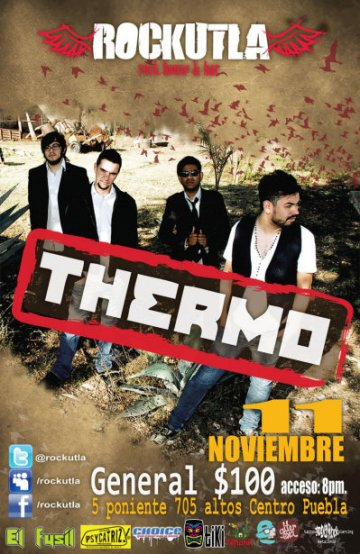 Thermo En Rockutla Rock House And Bar Puebla Centro - rock en espa�ol - rockeros.net