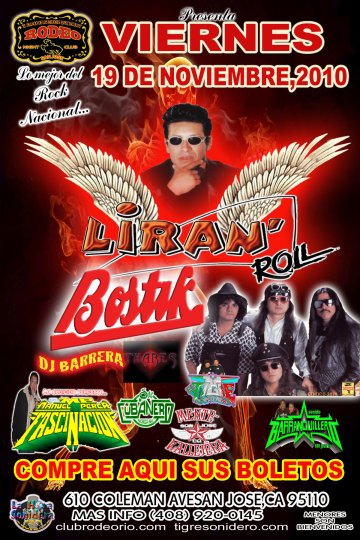 Liran Roll Banda Bostik Mente Kallejera Rodeo Night Club De San Jose California - rock en espa�ol - rockeros.net