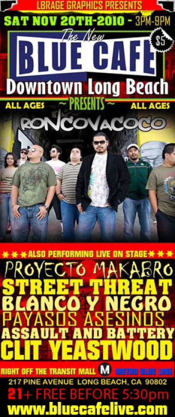 Roncovacoco Proyecto Makabro Street Threat En El Blue Cafe De Long Beach Ca - rock en espa�ol - rockeros.net