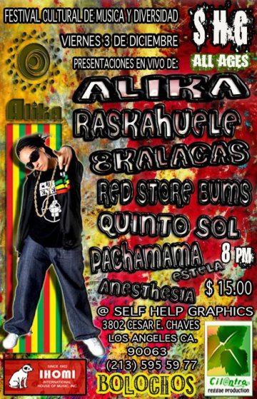 Alika Raskahuele 8 Kalacas Red Store Bums Self Help Graphics Los Angeles Ca - rock en espa�ol - rockeros.net