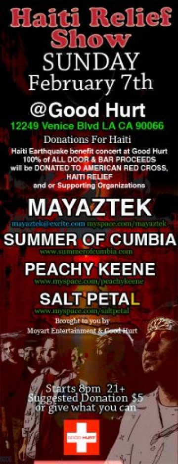 Haiti Relief Show Summer Of Cumbia Mayastek At The Good Hurt Feb 7th 2010 - rock en espa�ol - rockeros.net