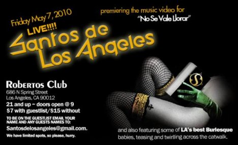 Santos De Los Angeles Video Release Party - rock en español - rockeros.net