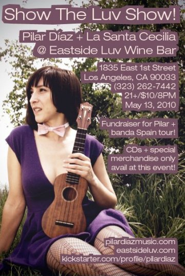 Pilar Diaz Y La Santa Cecilia En El Eastside Luv Wine Bar - rock en espa�ol - rockeros.net