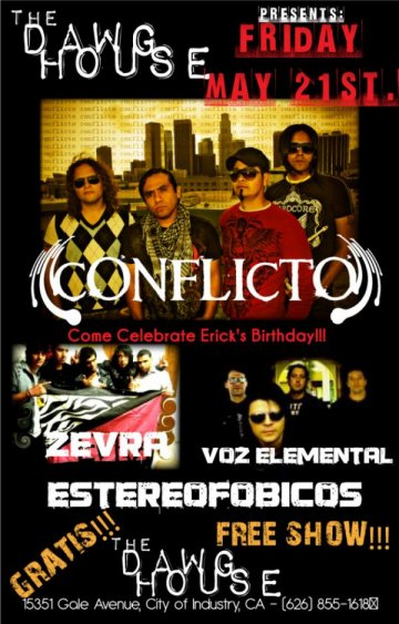 Conflicto Y Zevra En The Dawg House - rock en espa�ol - rockeros.net