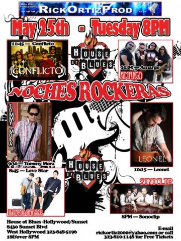 Noches Rockeras En El House Of Blues De Hollywood - rock en espa�ol - rockeros.net