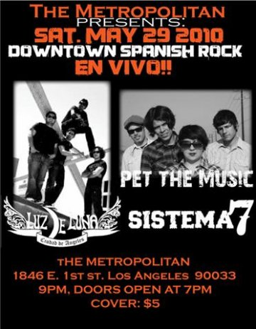 Luz De Luna Y Pet The Music En El Metropolitan Los Angeles - rock en espa�ol - rockeros.net