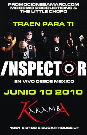 Inspector En El Sugarhouse De Salt Lake City Ut - rock en espa�ol - rockeros.net