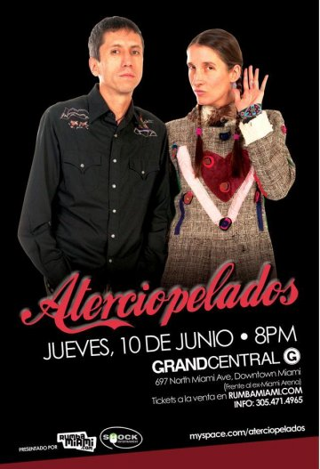 Aterciopelados En Grand Central Miami - rock en espa�ol - rockeros.net