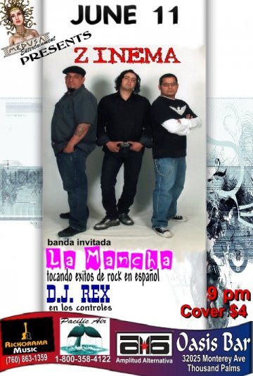 Zinema En El Oasis Bar De Thousand Palms - rock en espa�ol - rockeros.net