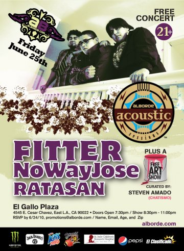 Alborde Acoustic Sessions Con Fitter Y No Way Jose - rock en espa�ol - rockeros.net
